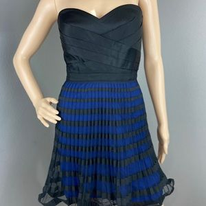 BCBG Maxazria Black and Blue dress